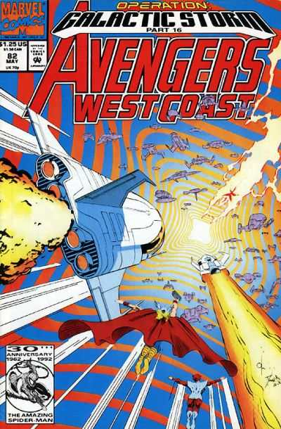 Avengers West Coast #82 Comic Books - Covers, Scans, Photos  in Avengers West Coast Comic Books - Covers, Scans, Gallery