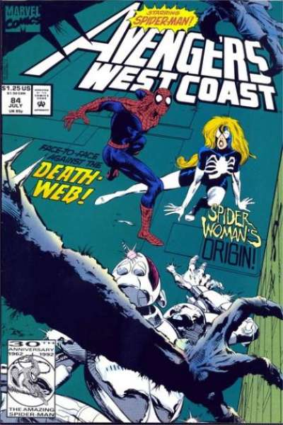 Avengers West Coast #84 Comic Books - Covers, Scans, Photos  in Avengers West Coast Comic Books - Covers, Scans, Gallery