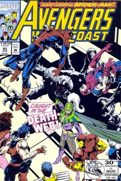 Avengers West Coast #85 Comic Books - Covers, Scans, Photos  in Avengers West Coast Comic Books - Covers, Scans, Gallery