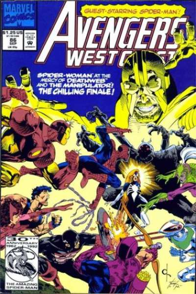 Avengers West Coast #86 Comic Books - Covers, Scans, Photos  in Avengers West Coast Comic Books - Covers, Scans, Gallery