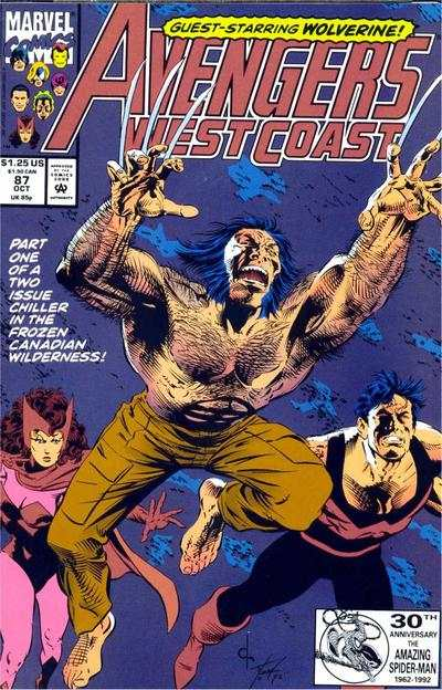 Avengers West Coast #87 comic books - cover scans photos Avengers West Coast #87 comic books - covers, picture gallery