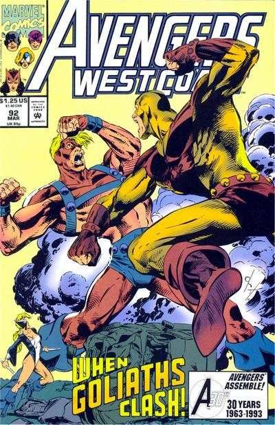 Avengers West Coast #92 comic books - cover scans photos Avengers West Coast #92 comic books - covers, picture gallery