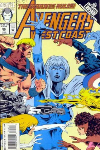 Avengers West Coast #96 Comic Books - Covers, Scans, Photos  in Avengers West Coast Comic Books - Covers, Scans, Gallery