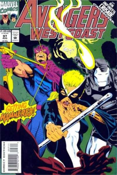 Avengers West Coast #97 comic books for sale