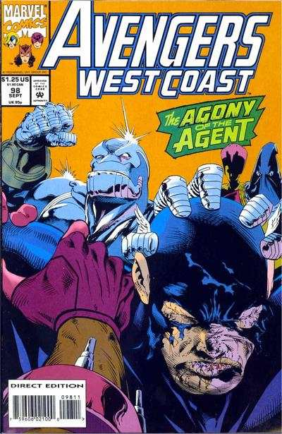 Avengers West Coast #98 comic books - cover scans photos Avengers West Coast #98 comic books - covers, picture gallery