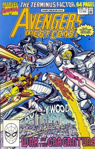 Avengers West Coast #5 comic books - cover scans photos Avengers West Coast #5 comic books - covers, picture gallery