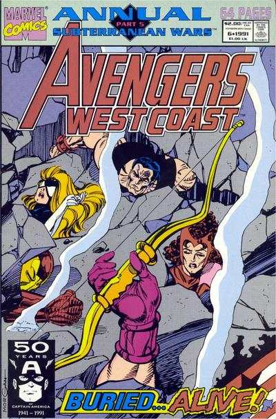 Avengers West Coast #6 comic books - cover scans photos Avengers West Coast #6 comic books - covers, picture gallery