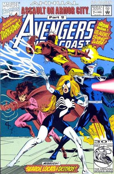 Avengers West Coast #7 comic books - cover scans photos Avengers West Coast #7 comic books - covers, picture gallery