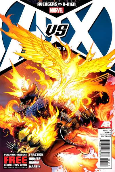 Avengers vs. X-Men #5 comic books - cover scans photos Avengers vs. X-Men #5 comic books - covers, picture gallery