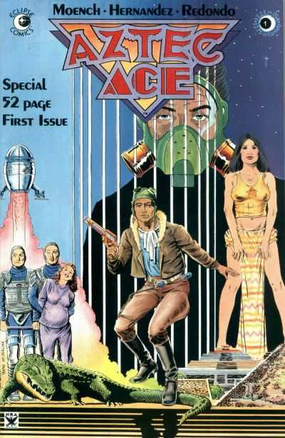 Aztec Ace #1 comic books - cover scans photos Aztec Ace #1 comic books - covers, picture gallery