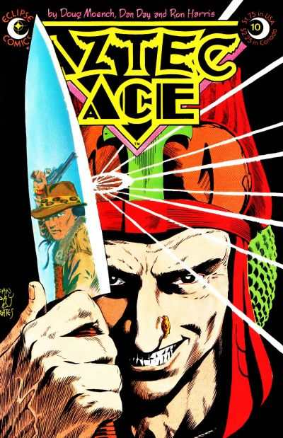 Aztec Ace #10 comic books - cover scans photos Aztec Ace #10 comic books - covers, picture gallery