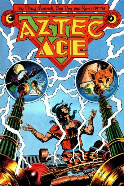 Aztec Ace #9 comic books - cover scans photos Aztec Ace #9 comic books - covers, picture gallery