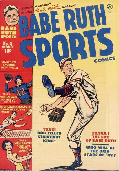 Babe Ruth Sports #4 comic books - cover scans photos Babe Ruth Sports #4 comic books - covers, picture gallery