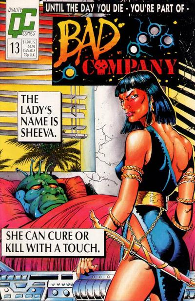 Bad Company #13 comic books - cover scans photos Bad Company #13 comic books - covers, picture gallery