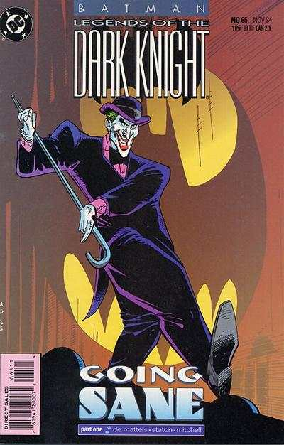 Batman: Legends of the Dark Knight #65 comic books - cover scans photos Batman: Legends of the Dark Knight #65 comic books - covers, picture gallery