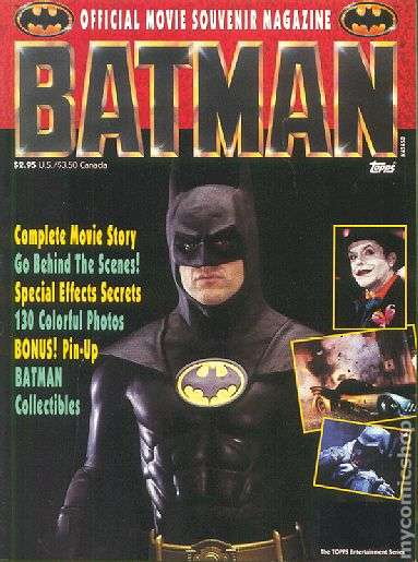 Batman Official Movie Souvenir Magazine #1 comic books - cover scans photos Batman Official Movie Souvenir Magazine #1 comic books - covers, picture gallery