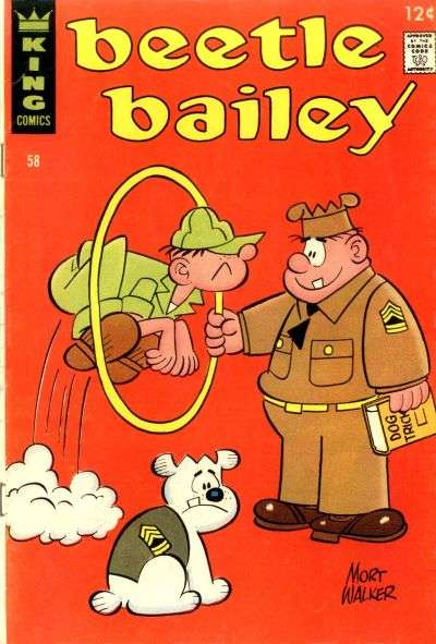 Beetle Bailey #58 comic books for sale