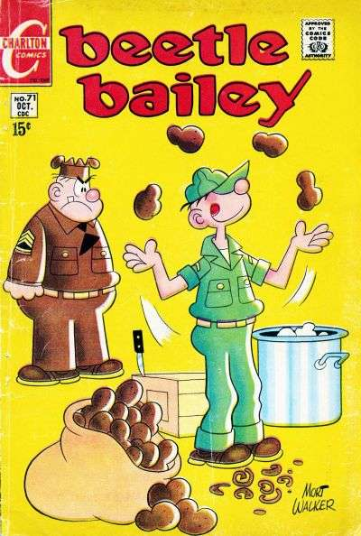 Beetle Bailey #71 comic books - cover scans photos Beetle Bailey #71 comic books - covers, picture gallery