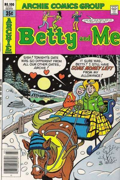 Betty and Me #100 comic books for sale