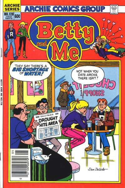 Betty and Me #128 Comic Books - Covers, Scans, Photos  in Betty and Me Comic Books - Covers, Scans, Gallery