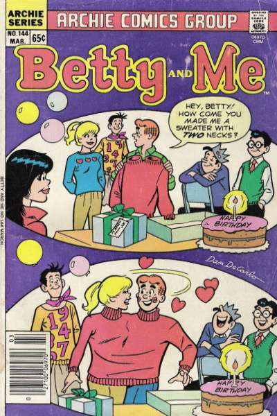 Betty and Me #144 Comic Books - Covers, Scans, Photos  in Betty and Me Comic Books - Covers, Scans, Gallery
