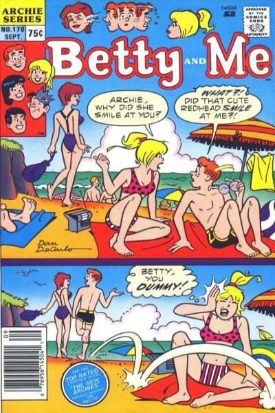 Betty and Me #170 Comic Books - Covers, Scans, Photos  in Betty and Me Comic Books - Covers, Scans, Gallery