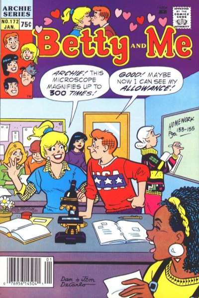 Betty and Me #172 Comic Books - Covers, Scans, Photos  in Betty and Me Comic Books - Covers, Scans, Gallery