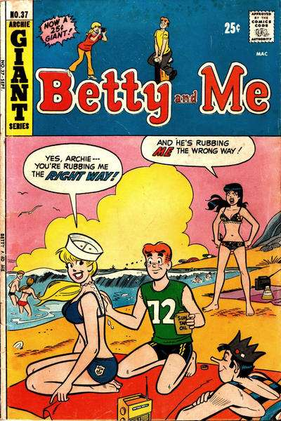 Betty and Me #37 Comic Books - Covers, Scans, Photos  in Betty and Me Comic Books - Covers, Scans, Gallery