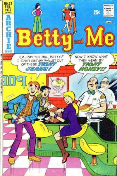 Betty and Me #72 Comic Books - Covers, Scans, Photos  in Betty and Me Comic Books - Covers, Scans, Gallery