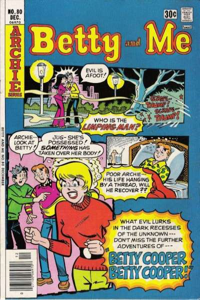 Betty and Me #80 Comic Books - Covers, Scans, Photos  in Betty and Me Comic Books - Covers, Scans, Gallery