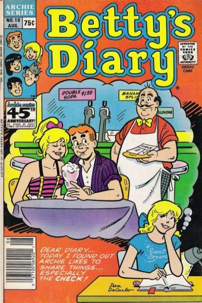 Betty's Diary #10 comic books for sale