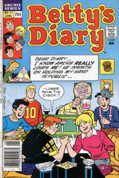 Betty's Diary #17 comic books for sale
