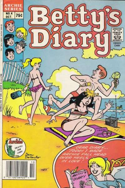 Betty's Diary #4 comic books for sale
