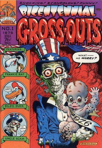 Bicentennial Gross-Outs comic books