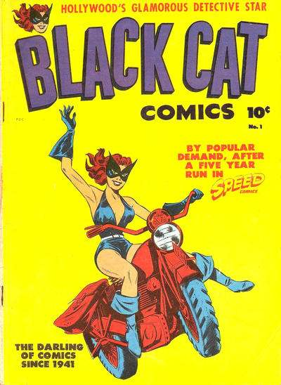 Black Cat Comics comic books