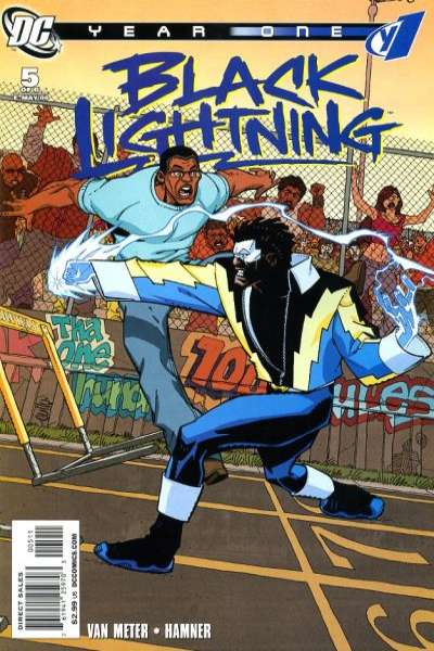 Black Lightning: Year One #5 Comic Books - Covers, Scans, Photos  in Black Lightning: Year One Comic Books - Covers, Scans, Gallery