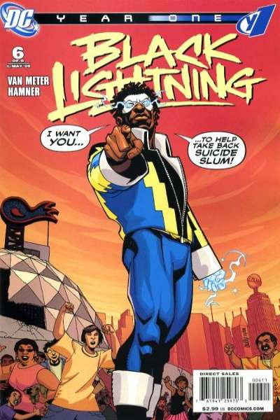 Black Lightning: Year One #6 Comic Books - Covers, Scans, Photos  in Black Lightning: Year One Comic Books - Covers, Scans, Gallery