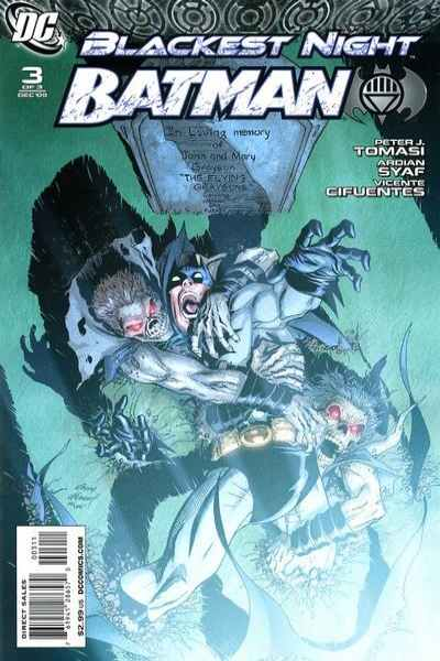 Blackest Night: Batman #3 comic books - cover scans photos Blackest Night: Batman #3 comic books - covers, picture gallery