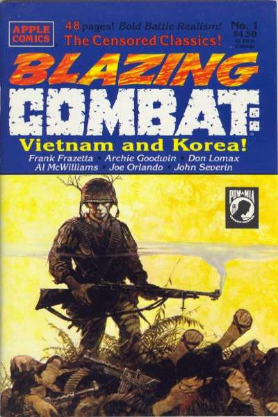 Blazing Combat: Vietnam and Korea comic books