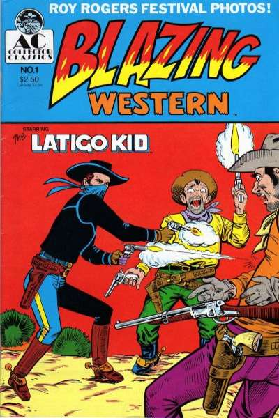 Blazing Western comic books