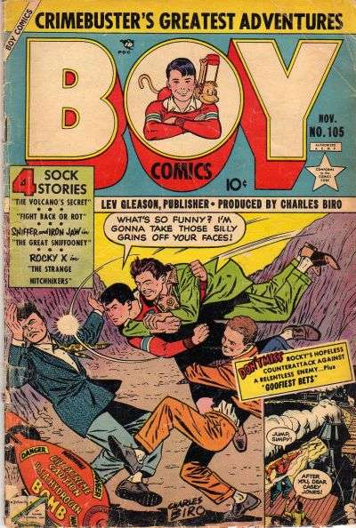 Boy Comics #105 comic books for sale