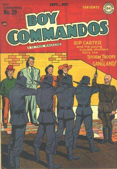 Boy Commandos #29 comic books - cover scans photos Boy Commandos #29 comic books - covers, picture gallery