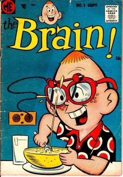 Brain comic books