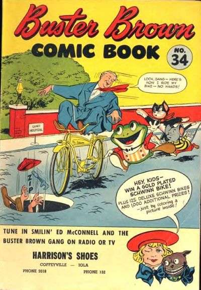 Buster Brown Comics #34 Comic Books - Covers, Scans, Photos  in Buster Brown Comics Comic Books - Covers, Scans, Gallery