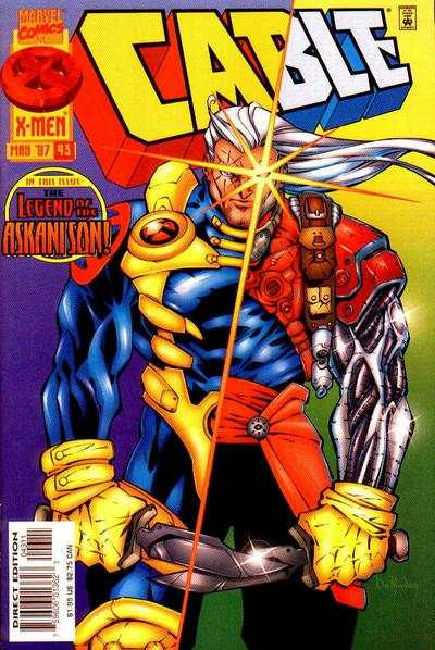 Cable #43 comic books - cover scans photos Cable #43 comic books - covers, picture gallery