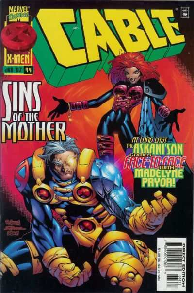 Cable #44 comic books - cover scans photos Cable #44 comic books - covers, picture gallery