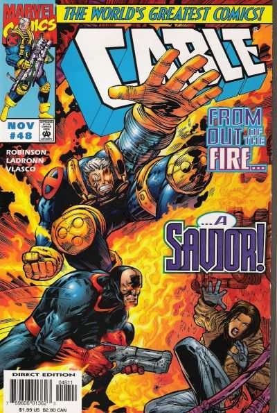 Cable #48 comic books - cover scans photos Cable #48 comic books - covers, picture gallery