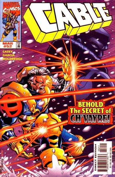 Cable #52 comic books - cover scans photos Cable #52 comic books - covers, picture gallery