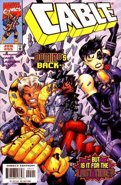 Cable #55 comic books - cover scans photos Cable #55 comic books - covers, picture gallery