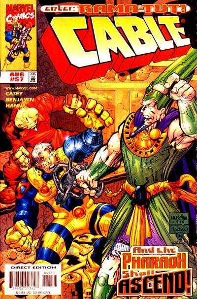 Cable #57 comic books - cover scans photos Cable #57 comic books - covers, picture gallery